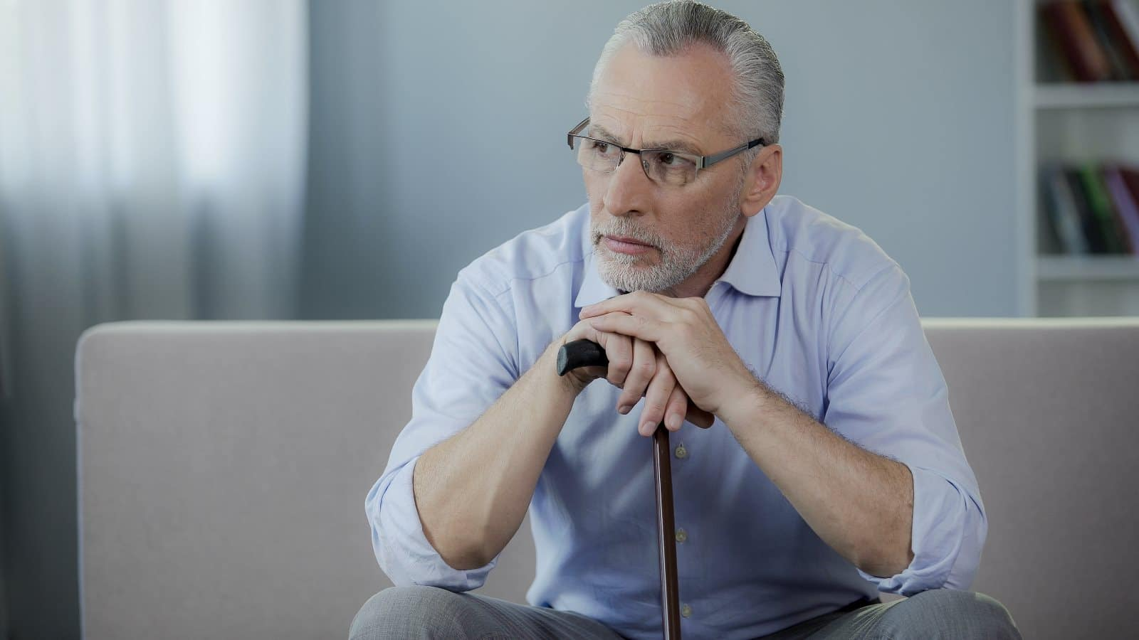 Mature business owner concerned net worth and company value